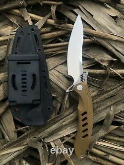 10.23 RIKE F1 Hunting Combat Tactical Knife Dagger D2 Blade G10 Handle withSheath