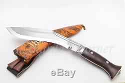 10 Hand Forged Blade Gurkha Khukuri Knife Sirupate Service Dagger Full Tang