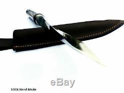 15TRI Twest Blade Dagger Boar Bowie Knife Huntinf Knife Survival Knife D2 Steel
