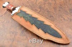 21.6ozair Custom D2 Steel Black Coated Full Tang Beast Dagger Blade Knife 7287