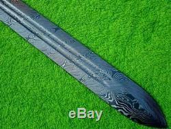 30 Custom Damascus Steel Hunting Knife Viking Sword Blank Blade Dagger