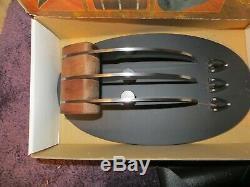 3 Blade Dagger Knife Weapon by DONALD BUDD TIGER CLAW EB-730 NIB
