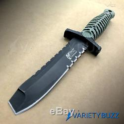 9 M-TECH Fixed Blade COMBAT KNIFE Dagger Tactical Blade Army Bowie with SHEATH