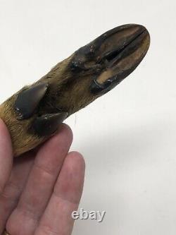 AW Wadsworth & Son Knife Deer Hoof Foot Handle Fixed Blade Germany Dagger