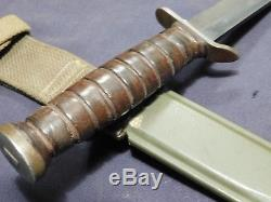 A+ WWII US M3 IMPERIAL Trench Fighting Knife Dagger Airborne Blade Mark with M8