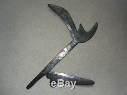 African throwing knife, Congo throwing knife. Engraved blade, NGBAKA, 1900, rare