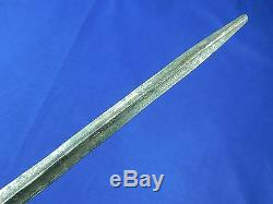 Antique 19 Century French France Navy Triangle Blade Fighting Knife Dagger