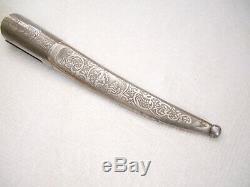 Antique ESKILSTUNA SCABBARD for 4 1/2 to 5 slightly curved blade knife dagger