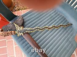 Antique Indonesian Balinese Bali Knife Dagger Sword Keris Kris Blade