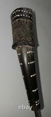 Antique Indonesian Toraja Bali Knife Dagger Sword Blade Horn Handle