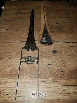 Antique Katar Tiger Knife Dagger Handmade Antique Wootz Steel blade 17