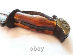 Antique Khanjarli Dagger Wootz Damascus Steel 17th century blade knife
