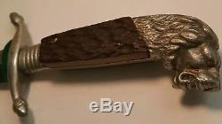 Antique Kris blade Lions head German Knife fighting G. C. Co. Razor sharp dagger