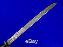 Antique Old Sumatra Sumatran 19 Century Damascus Blade Badek Badik Dagger Knife