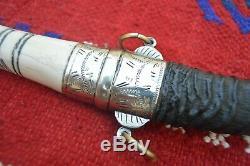 Antique Old Vintage Dagger Koummya Horn Gazelle Knife Handmade Blade Handle