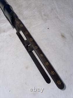 Antique Tiger Knife Dagger Rajput Katar Faulad Blade Carvings On Bar 17 Inches