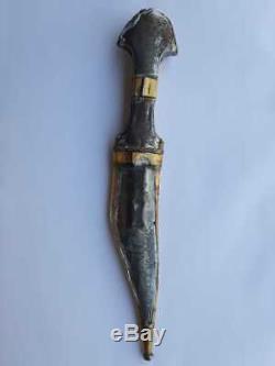 Arab dagger sword knife Janbiya blade hand made Saudi Islamic Sahara Turquoise