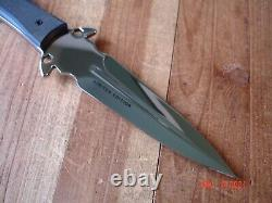B Anvil Buck Knife 234 Glint Dagger Mp 420hc Blade Cnc G10 Handle Black & Blue