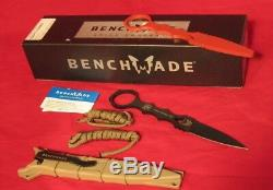 Benchmade 176BKSN-COMBO SOCP Dagger Fixed Blade Knife with Trainer Sand Sheath