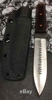 Blue wasp knives custom handmade knife EDC utility Dagger blade, steel, USA