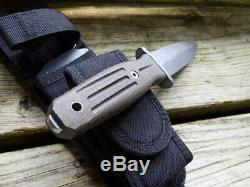 Boker Knife Applegate Fairbairn Fixed Blade Combat Dagger 120644 German Sheath