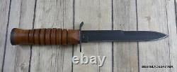 Boker Plus M3 Trench Knife Fixed Blade Double Edge With Leather Sheath