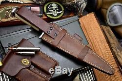 CFK Handmade D2 Custom NUDE WOMEN Scrimshaw Bone Toothpick Dagger Blade Knife