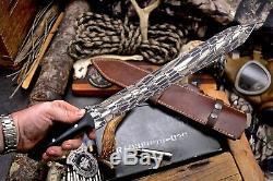 CFK Handmade D2 Tool Steel HONEYCOMB 16-Inch VIKING-DAGGER Combat Blade Knife