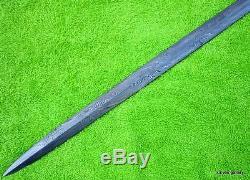 CUSTOM DAMASCUS STEEL HUNTING KNIFE / RAPIER CANE SWORD BLADE / DAGGER /36Long