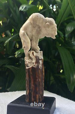 Carved Knife Handle Bison Deer Antler Shed Carving Blade Dagger Free Shipping