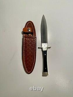 Case XX USA P62 4 1/2 SS Fixed Blade Dagger Boot Knife with Leather Sheath