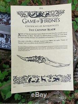 Catspaw Blade, Knife Dagger, official Game of Thrones licensed Arya Stark