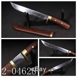 Clay tempered pattern steel knife Chinese sword dagger sharp blade#101
