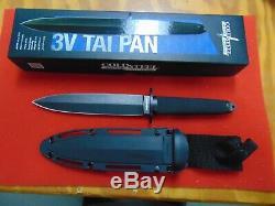 Cold Steel Tai Pan Fixed Blade Knife 13Q Black CPM-3V Blade Sheath NIB