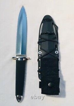 Cold Steel Tai Pan Fixed Blade Knife Black Handle Spear Pt. Dagger Blade San Mai