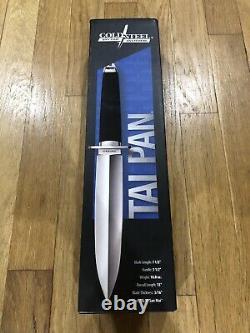 Cold Steel Tai Pan Knife 7.5 Dagger Steel Blade Rubber Handle