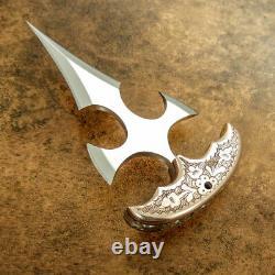 Custom D2 Blade Art Dagger Knife Engraved Bolsters A Work Of Art