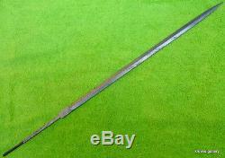 Custom Damascus Hunting Knife / Rapier Cane Sword Blank Blade / Dagger /31long