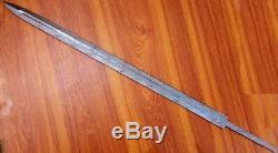 Custom Damascus Hunting Knife / Viking Crescent Sword Blank Blade / Dagger /35