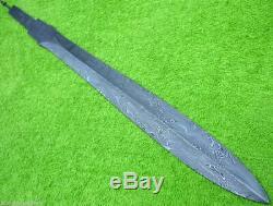 Custom Damascus Steel Hunting Knife / A Viking Sword Blank Blade / Dagger /30l