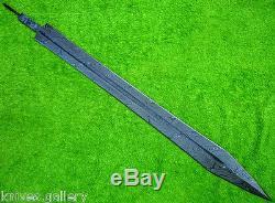 Custom Damascus Steel Hunting Knife / Greek Sword Blank Blade / Dagger / 30 L