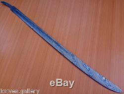 Custom Damascus Steel Hunting Knife / Machete Sword Blank Blade / Dagger /39l