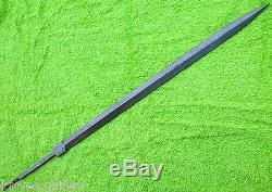 Custom Damascus Steel Hunting Knife / Rapier Cane Sword Blank Blade / Dagger 27