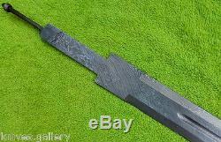 Custom Damascus Steel Hunting Knife / Viking Sword Blank Blade / Dagger / 30l