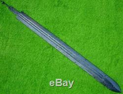 Custom Damascus Steel Hunting Knife Viking Sword Blank Blade Dagger /31 Mi-48