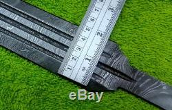 Custom Damascus Steel Sword Blank Blade Dagger 31 Knife Making Supplies Mi-24
