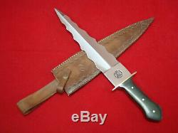 DW Custom & Handmade Double edge Kris Blade Knife Dagger Micarta Handle Brass