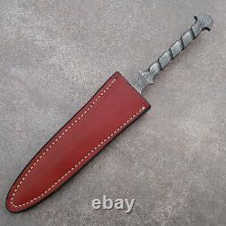 Damascus Dagger Custom Handmade Fixed Blade Knife