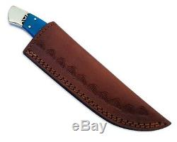 Damascus Knife Hunting fixed Blade Pocket Camping Sports Outdoor army Dagger