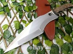 Dragon Warrior Custom Handmade Rare D2 Tool Steel Hunting Fix Blade Knife Dagger